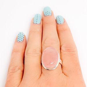 Rose Quartz Sterling Silver Artisan Ring